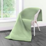 Biederlack Wohndecke Cotton Home 7 | Struktur Oliv - 150 x 200 cm Baumwollmischung