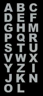 Edelstahl Buchstaben, A-Z, selbstklebend, Höhe 75 mm - Vorschau 2