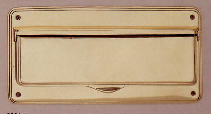 Messing Briefklappe BISCHOFSHOFEN / Briefeinwurf Briefschlitz