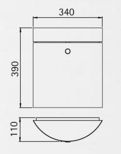 Edelstahl Briefkasten WESTFALEN - inkl. separater Zeitungsrolle - freistehend Standbriefkasten Briefkästen - MADE IN GERMANY - Vorschau 5