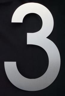 Edelstahl Hausnummer 3XL - Nr. 3 / Höhe 30cm