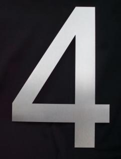 Edelstahl Hausnummer 3XL - Nr. 4 / Höhe 30cm