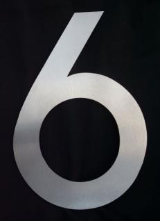 Edelstahl Hausnummer 3XL - Nr. 6 / Höhe 30cm