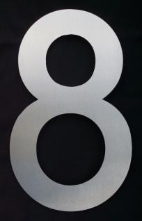 Edelstahl Hausnummer 3XL - Nr. 8 / Höhe 30cm