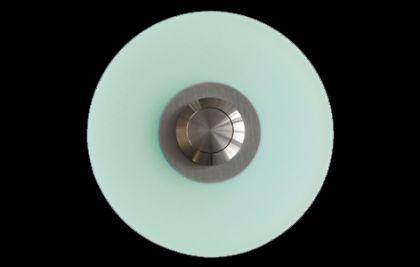Edelstahl / Plexiglas Klingelplatte DÜSSELDORF - iceblue / Türklingel Klingeltaster Klingel Klingelschild - Vorschau 2
