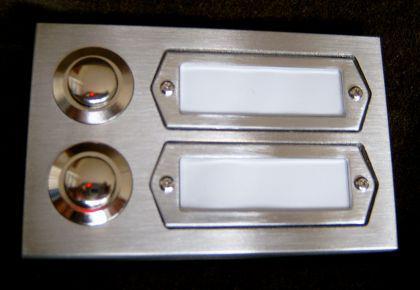 FLENSBURG-2 / Türklingel Klingel Klingeltaster Klingelplatte Klingelschild Aufputz