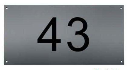 Edelstahl Hausnummer FREI Typ 1 / Hausnummern - Vorschau 2