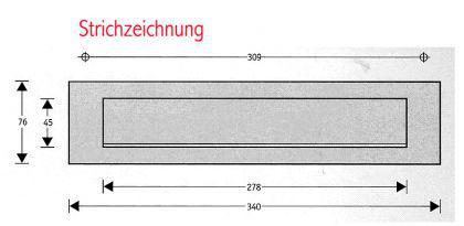 Edelstahl Briefeinwurf HELSINKI - Briefklappe Briefschlitz - Vorschau 2