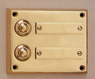 Messing Aufputzklingelplatte MK-1004-2, Messing Klingelschild, Aufputzklingel, Aufputz-Klingel, Aufputz-Klingelplatte, Aufputztürklingel,