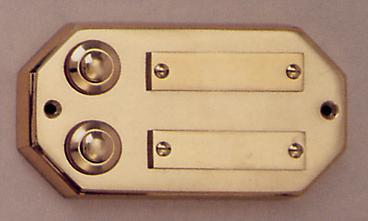 Messing Aufputzklingelplatte MK-1007-2, Messing Klingelschild, Aufputzklingel, Aufputz-Klingel, Aufputz-Klingelplatte, Aufputztürklingel,