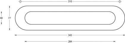 Messing Briefklappe OSLO / Briefeinwurf Briefschlitz - Vorschau 2