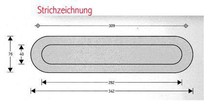 OSLO / Edelstahl Briefeinwurf Briefklappe Briefschlitz - Vorschau 2