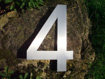 Edelstahl Hausnummer 3XL - Nr. 4 / Höhe 30cm - Vorschau 2