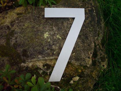 Edelstahl Hausnummer 3XL - Nr. 7 / Höhe 30cm - Vorschau 2