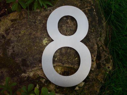 Edelstahl Hausnummer MAXI 3XL - Nr. 8 / Hausnummern - Vorschau 2