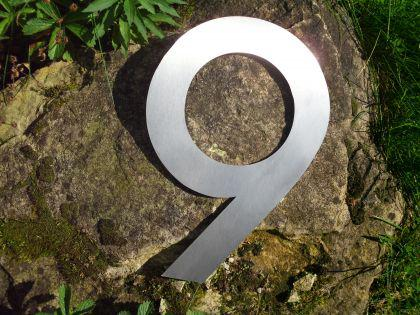 Edelstahl Hausnummer 3XL - Nr. 9 / Höhe 30cm - Vorschau 2