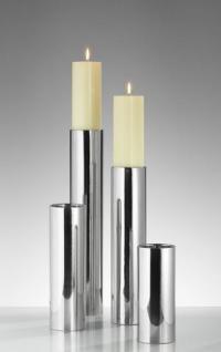 Kaheku Edelstahl Leuchter SUB / Tischlicht / Kerzenständer / Kerzenleuchter - Höhe 11 cm