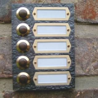 Messing Aufputzklingelplatte WIEN-5, Messing Klingelschild, Aufputzklingel, Aufputz-Klingel, Aufputz-Klingelplatte, Aufputztürklingel,