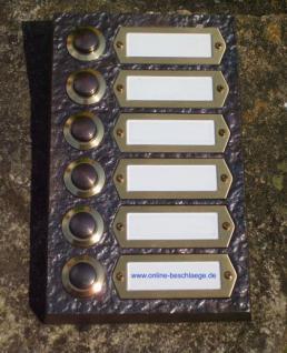 Messing Aufputzklingelplatte WIEN-6, Messing Klingelschild, Aufputzklingel, Aufputz-Klingel, Aufputz-Klingelplatte, Aufputztürklingel,