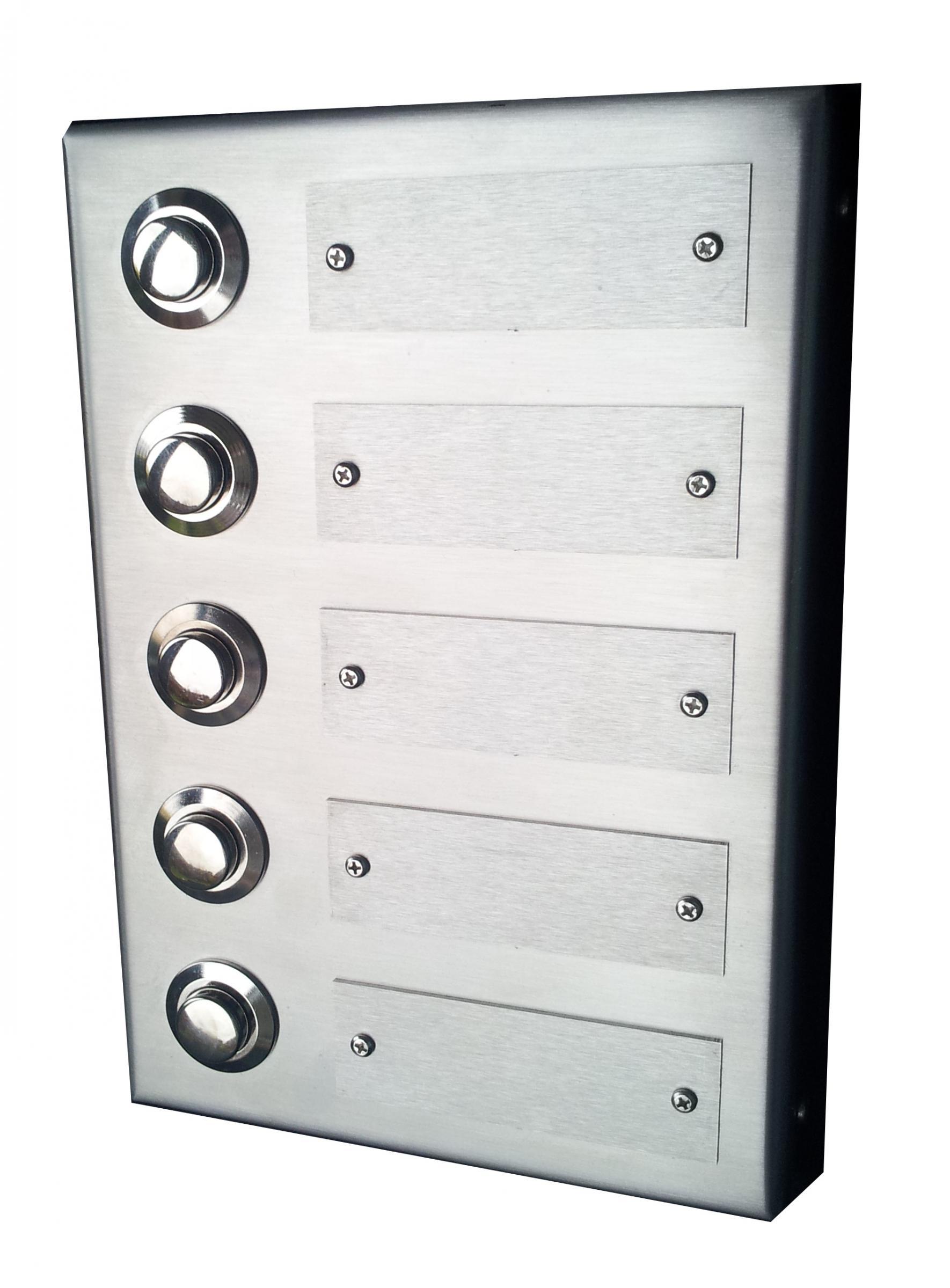 edelstahl aufputzklingelplatte pl n 5 gs edelstahl klingelschild edelstahl aufputzklingel. Black Bedroom Furniture Sets. Home Design Ideas