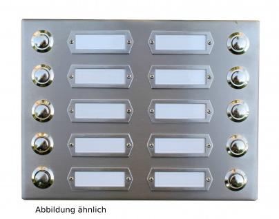 Edelstahl Aufputzklingelplatte PLÖN-14 2R BF, Edelstahl Klingelschild, Edelstahl Aufputzklingel, Edelstahl Aufputz-Klingel, Edelstahl Aufputz-Klingelplatte, Edelstahl Klingelplatte auf der Wand, Edelstahl Klingel Aufputz,