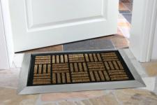 Fußmatte COCONUT mit Edelstahlrahmen - Edelstahl Eingangsmatte Schmutzfangmatte Ringgummimatte Fußabtreter