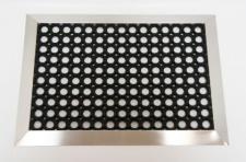Fußmatte RUBBER mit Edelstahlrahmen - Edelstahl Eingangsmatte Schmutzfangmatte Ringgummimatte Fußabtreter