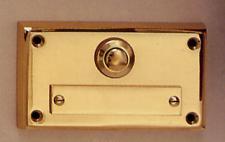 Messing Aufputzklingelplatten MK-1006, Messing Klingelschild, Aufputzklingel, Aufputz-Klingel, Aufputz-Klingelplatte, Aufputztürklingel,