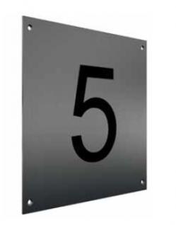 Edelstahl Hausnummer FREI Typ 1 / Hausnummern - Vorschau 4