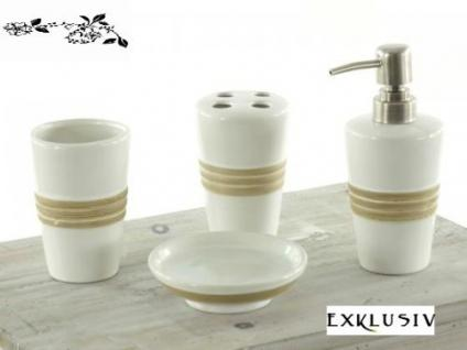 "Exclusives Badset-Bad SET 4 tlg. Modell:Holden Beach""-Farbe: weiss / beige-Material: Keramik..."""
