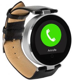 Enox RSW55 Bluetooth 4.0 Smartwatch rund Handyuhr kompatibel mit iOS Android SI - Vorschau 3