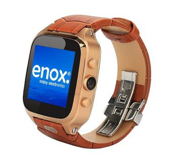 Enox WSP8802 40GB Android Smartwatch Handyuhr SIM WLAN 5MP Kamera GPS Bluetooth Braun