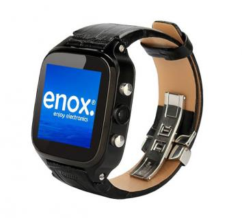 Enox WSP8802 40GB Android Smartwatch Handyuhr SIM WLAN 5MP Kamera GPS Bluetooth Schwarz