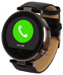 Enox RSW55 Bluetooth 4.0 Smartwatch rund Handyuhr kompatibel mit iOS Android SW