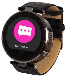Enox RSW55 Bluetooth 4.0 Smartwatch rund Handyuhr kompatibel mit iOS Android SW - Vorschau 3