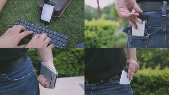 ENOX KeyFold KFB100 Wireless Bluetooth Keyboard Tastatur für iPhone iOS Android Tablet PC Smart TV - Vorschau 4