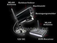 Apexis D60 Digital DVR Funk Überwachungssystem Aufnahme Aussen Kamera IR Nachtsicht