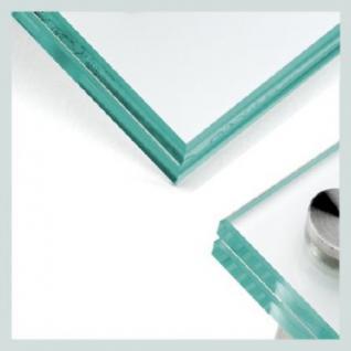 150 x 150 mm Glas 4 Bohrungen