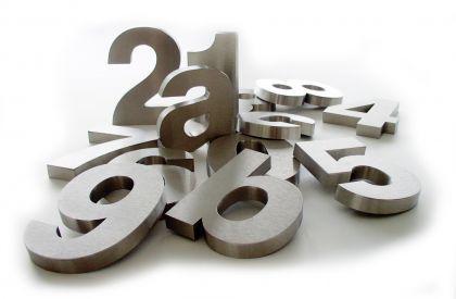 3-D-Edelstahl-Hausnummer