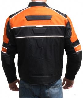 Textilien Jacke Motorradjacke Kombigeeignet Schwarz/Orange - Vorschau 3