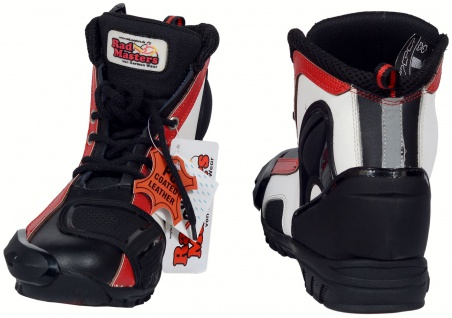 German Wear, Biker Motorradstiefel Motorrad Racing Touring Stiefel stiefletten Rot/ Gelb 17cm - Vorschau 2