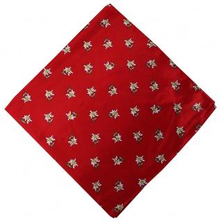 German Wear, Halstuch Trachtentuch mit Edelweissmuster nikituch 60x60cm rot