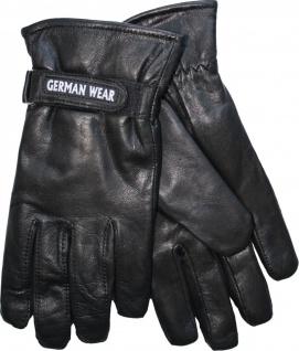 German Wear, Herren Lammnappa Lederhandschuhe Handschuhe echtleder Lamm-Nappaleder schwarz