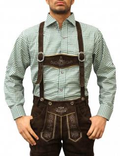 Trachtenhemd für Trachtenlederhosen Oktoberfest Trachtenmode GRÜN/karo