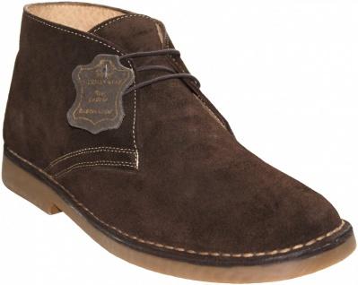 Schnürschuhe Stiefeletten aus echtem Rindsleder Schuhe dunkelbraun