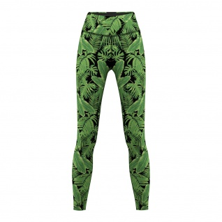 Jungle Leaves, Leggings sehr dehnbar Fitness Sport Gymnastik Training Tanzen Freizeit