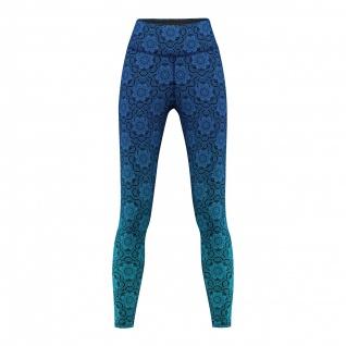 GermanWear, Mandala Blue Leggings sehr dehnbar Fitness Sport Yoga Gymnastik Training Tanzen Freizeit