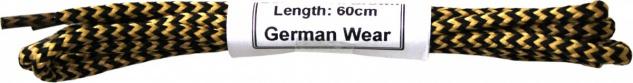 German Wear, 1 Paar Trachten Schnürsenkel für Haferlschuhe Beige/Schwarz