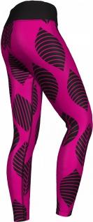 GermanWear, Leggings Tights dehnbar Sport Gymnastik Training Tanzen Freizeit Yoga, Leaf pink/schwarz - Vorschau 3