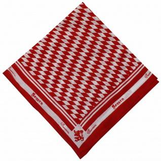 German Wear, Halstuch Trachtentuch bayrisches Bandana Muster 53x53 rot